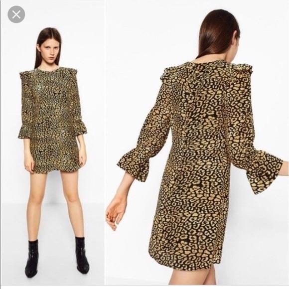 0a371c36f80 Zara Trafaluc Animal Print Dress NWT Med